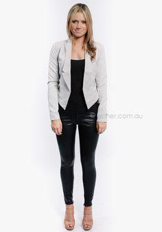 hollow blazer - light grey