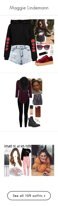"""""""Maggie Lindemann"""" by princesselune97 ❤ liked on Polyvore featuring Boohoo, Cape Robbin, French Girl, Alexander McQueen, Pepper & Mayne, White + Warren, Timberland, Furla, MAC Cosmetics and TWO-O"""