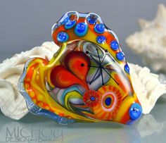 Rainbow Heart  Art Glass by MICHOU by michoudesign on Etsy, $89.00