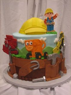 Bob the Builder cake! if i could find someone to make this, I would quite possibly be the worlds best mom