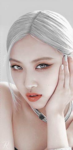 Kpop Girl Groups, Kpop Girls, Foto Rose, Arte Indie, Rose Bonbon, Rose Queen, Cute Couple Wallpaper, Black And White Wallpaper, Rose Icon
