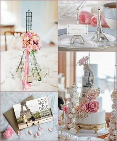 Paris Themed Wedding Ideas with Eiffel Tower Design from HotRef.com #eiffeltower