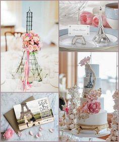 Paris Themed Wedding Ideas with Eiffel Tower Design from HotRef.com #eiffeltower