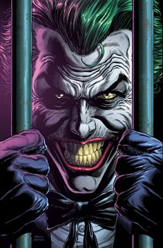 Joker Comic, Joker Dc Comics, Joker Art, Batman Joker Wallpaper, Joker Wallpapers, Animes Wallpapers, Three Jokers, Batman And Batgirl, Character Art