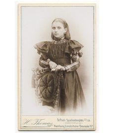 Pretty Little Girl Plaid Dress CDV Photo 1890s Child Fashion   eBay