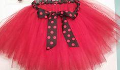 ladybug tutu, red tutu, polka dots, no sew, www.facebook.com/quaintlittletutus