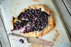 // blueberry brie galette.