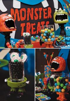 Halloween Monster Bash - Pretty My Party #halloween #monster #bash