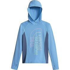 The North Face Girls' Reactor LS Hoodie: FEATURES of The North Face… #NorthFaceJackets #PatagoniaJackets #ArcteryxJackets #MountainHardwear