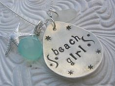 SALE Shabby Chic Designs HAND STAMPED Beach by shabbychicdesigns, $48.00