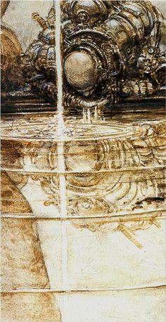 JUAN GIMENEZ. Arcane XIV - LA TEMPÉRANCE. Le Réarmement moral, la Régénération, la Spiritualité, l'Ascèse, l'Économie. (L'univers de Juan Gimenez. La Sirène 2002)