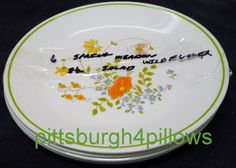 3 Corelle - Spring Meadow / Wildflower Salad Plates - Picture Shows 6 -  8 1/2 - 1 Orange Flower - EUC - Price Is For All by pittsburgh4pillows on Etsy