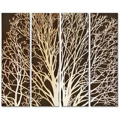 Arbor Spring Tree Brown Carved Wood Wall Mural Art ($1,303) ❤ liked on Polyvore featuring home, home decor, wall art, timber wall panels, wood panel, tree wall art, tree mural and wood wall art