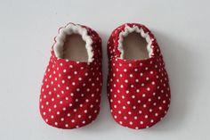 Red+spotty+slip+on+shoes+by+DottyRobin+on+Etsy