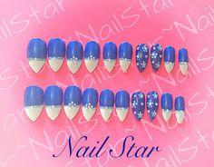 Stunning in blue nail art