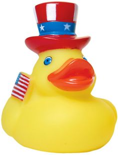 With just one month left before the election, how will you show support for your candidate of choice? Handing out our custom imprinted patriotic rubber duck is an adorable way to get your message out there. Who knows? You might just help sway a vote.