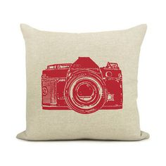 Long photoshoot? Rest your head on this red vintage camera pillow case!