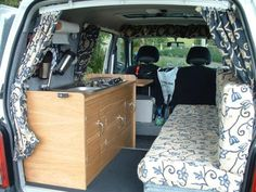 Another of the mini van camper from http://www.campervanconversion.co.uk/projects/small-van/tin-tent-2