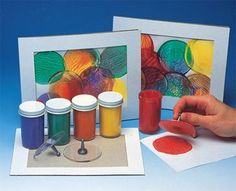 Squish Art Craft Kit.  could do this on a decorate their own bag...