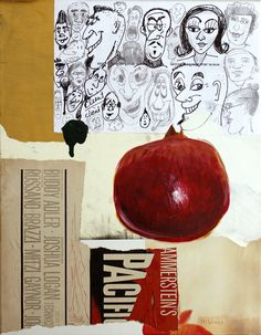 For Your Consideration, 2014, Collage and acrylic on canvas. ©2014 Mark Nobriga marknobriga.com All rights reserved.
