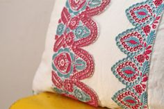 OOAK hand embroidered  blue and pink collarette by BylinaStudio, $79.00