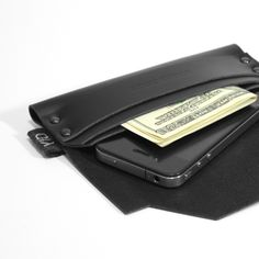 iPhone Case + Wallet Black Leather