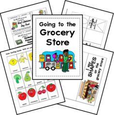 FREE Preschool Grocery Store Lapbook