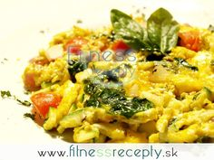 Zdravé fitness recepty - Zeleninová omeleta Risotto, Macaroni And Cheese, Fitness, Food And Drink, Ethnic Recipes, Gout, Mac And Cheese, Health Fitness, Rogue Fitness