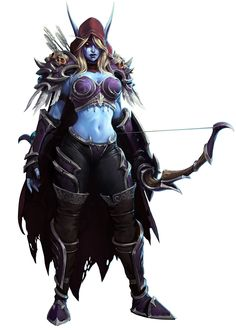Sylvanas - World of Warcraft Game Character Design, Character Concept, Character Art, Concept Art, World Of Warcraft Characters, Fantasy Characters, Female Characters, Heroes Of The Storm, Medieval Fantasy