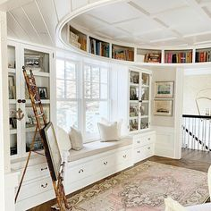 """Gorgeous Built-In """"Oval Office"""" with Exquisite Coffered Ceiling - Lake Geneva, Wisconsin"""