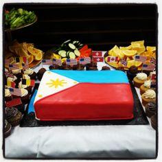 Philippines Flag Cake Philippines Flag, Flag Cake, Designer Cakes, Sweet Ideas, Cebu, Themed Cakes, Filipino, Cake Designs, Party Time