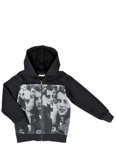 DOLCE & GABBANA - JAMES DEAN(TM) PRINTED COTTON SWEATSHIRT - LUISAVIAROMA - LUXURY SHOPPING WORLDWIDE SHIPPING - FLORENCE