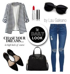 """my look today!"" by lauvgaleano on Polyvore featuring Current/Elliott, WithChic, MANGO, Furla and Givenchy"