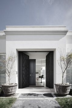 Love Something Like This For Front Entry To Match The Back Of House. Need  Double Door Entry. Design By David Hicks.
