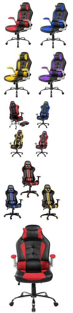 Office Furniture: Merax High Back Racing Gaming Computer Desk Office Chair Pu Leather Mesh Chair BUY IT NOW ONLY: $119.99