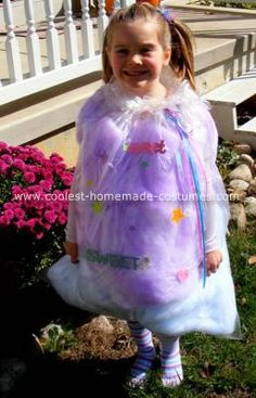 Cotton Candy Homemade Halloween Costume