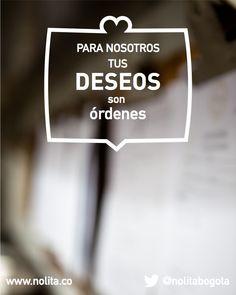 Para nosotros, cada domingo es un día de recompensas. www.nolita.com.co