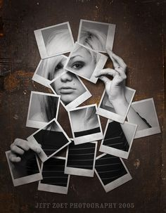 polaroid  - pictures taken of different facial features combined to show the…