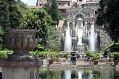 Villa d'Este, Rome    Whimsical grottoes, rushing flumes, and reflecting pools lace the gardens of the pleasure palace of Renaissance noble and cardinal Ippolito d'Este.     Photo Caption: Villa d'Este, located in Tivoli outside of Rome. Photo by MargaritaS/Frommers.com Community