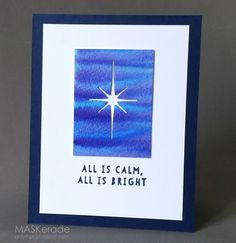 This is my card for this week's Muse: ChristmasVisions challenge, where DT Member Betty Wright has given us this beautiful blue and whit...