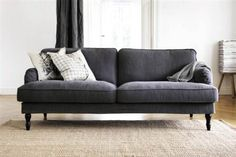Q: I saw a picture of the IKEA Stocksund sofa in their latest email ad but there is no link to it and when I search the US website it can't be found by the name. Does this couch exist in Europe? I love it and wish we had it in the States! Ikea Armchair, Ikea Couch, New Living Room, Home And Living, Ikea Stocksund, Living Room Inspiration, Home Furniture, Bedroom Furniture, Decoration