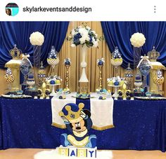 Decoracion Fiesta Nino Mickey Principe Principe Mickey En 2019
