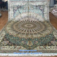 Vintage hand knotted silk rug from Yilong Carpet factory will be packed and shipped to our customer. Size: 6x9ft www.yilongcarpet.com #Vintagerug #antiqueshandknottedrugs #bathroomorientalrug