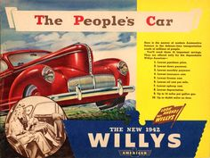 Willys Advertisement Poster