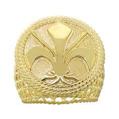 #benbridge Toscano Collection Fleur De Lis Ring in 18K yellow gold