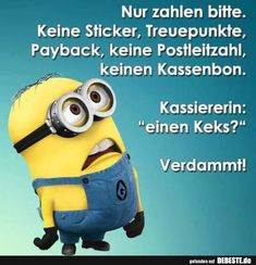 Seulement s& vous plaît payer . Minion Jokes, My Minion, Funny Minion, Memes Humor, Funny Jokes, Funny Character, Being A Landlord, Really Funny, Funny Photos