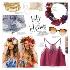 """""""Flower Child"""" by leinapacheco ❤ liked on Polyvore featuring WithChic, One Teaspoon, ABS by Allen Schwartz, Billabong and packforcoachella"""