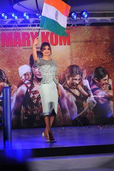 Priyanka Chopra and Mary Kom At Mary Kom Film Music Launch.  #PriyankaChopra #MaryKom  #MaryKomMovie