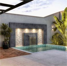 Backyard Design, Small Pools, Small Backyard, Small Pool Design, Outdoor Wall Fountains, House Front Design