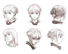 Eris Face Sketches  from Drakengard 2
